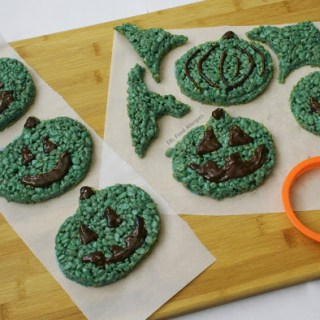 Teal Pumpkin Crispy Treat Recipe