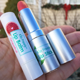 Grapefruit Lip Balm and Barely There Lipstick by Kiss Freely are free of the top 8 allergens!