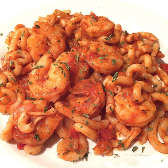 A simple, flavorful shrimp pasta recipe adapted from Julia's Album to be allergy-friendly and a little sweeter.