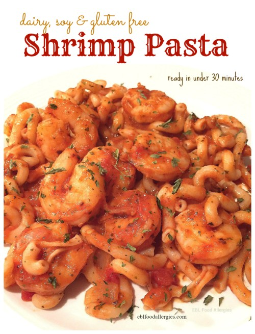 Shrimp Pasta ready in under 30 minutes.