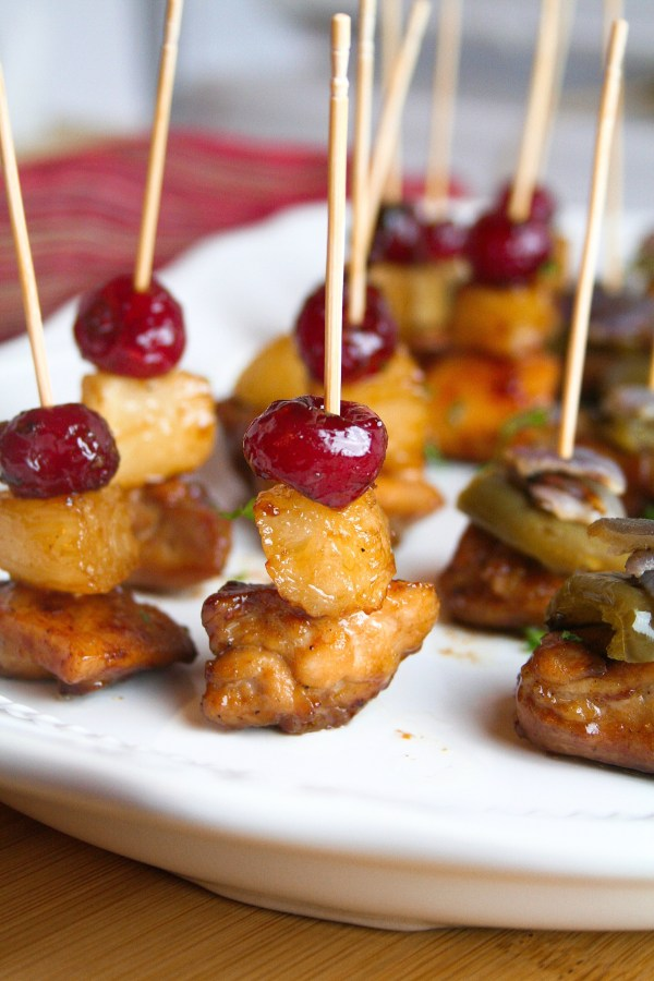 Sticky Sweet Chicken Appetizer - dairy, egg, nut, gluten free with soy free option
