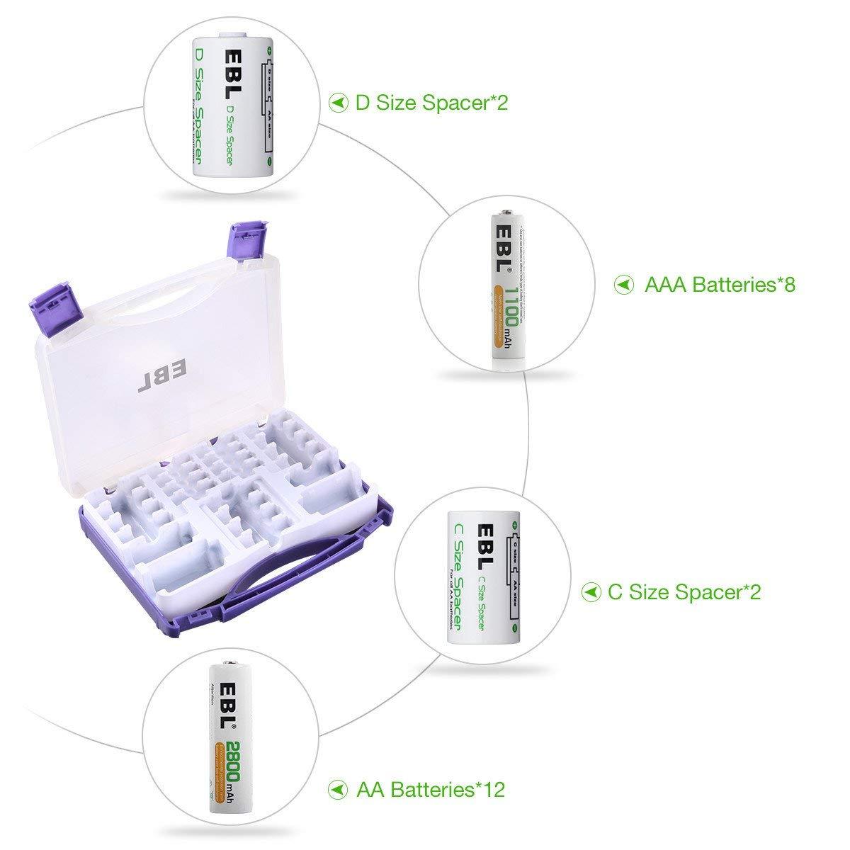 hight resolution of ebl economical aa aaa batteries kit