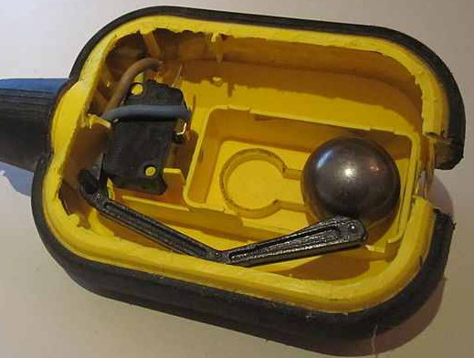 float switch off in a sump or sewerage tank