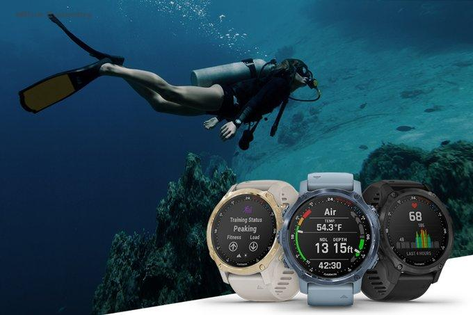 eBlue_economy_Garmin Introduces its Smallest Watch-Style Dive Computer_ the Descent Mk2S