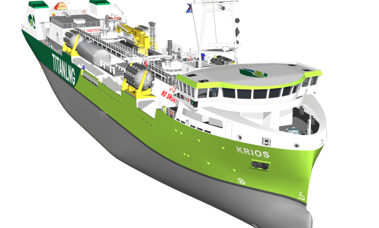 eBlue_economy_New LNG bunkering barge from Titan LNG to supply Zeebrugge and English Channel regions