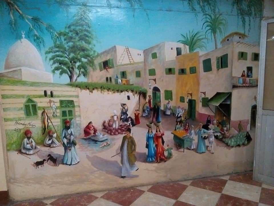 eBlue_economy_افتتاح معرض الفنان التشكيلى الراحل حمدى نصر بمركزاعلام ناصر
