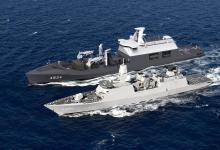 eBlue_economy_Damen Shipyards Galati lays keel of Combat Support Ship