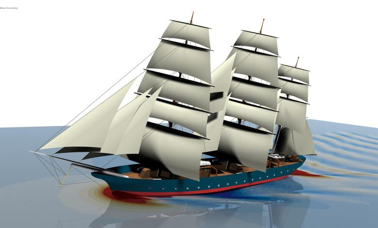 eBlue_economy_ Design of the first EcoClipper ship