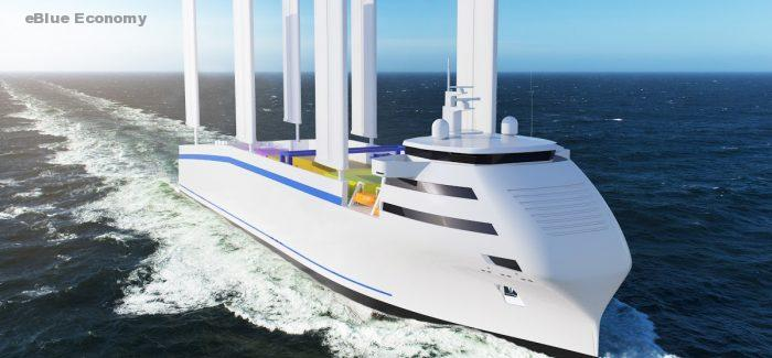 eBlue_economy_France's development of its innovative wingsail solution to help decarbonize the maritime transport industry.