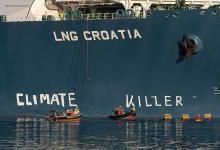eBlue_economy_Greenpeace protest against LNG usage in Croatia