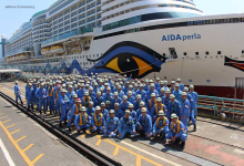 eBlue_economy_AIDA Cruises' new cruise ship completes its first voyage on the river Ems