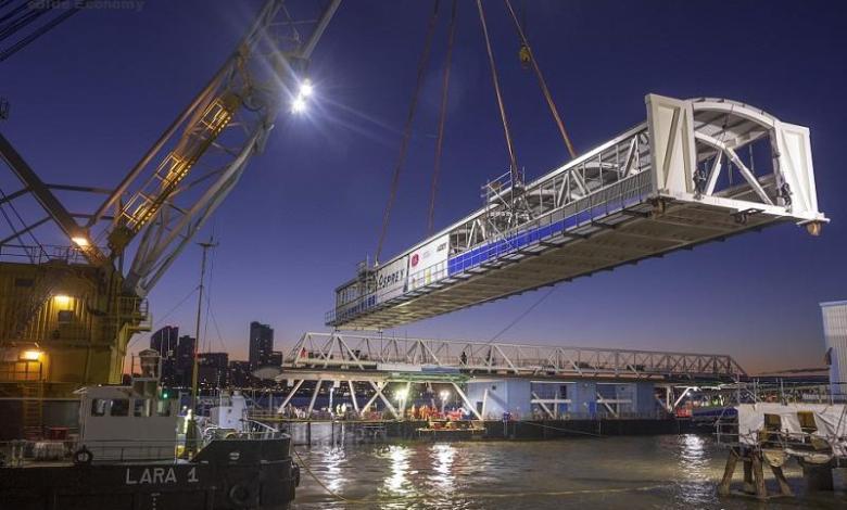 eBlue_economy_Seacombe Ferry Terminal completes new linkspan bridges installation