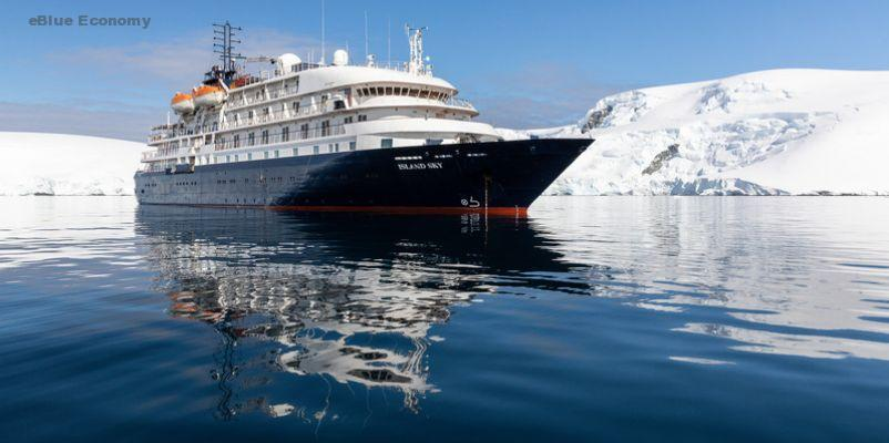 eeBlue_economy_Port of Troon welcomes the maiden call of the luxury cruise ship, MS Island Sky