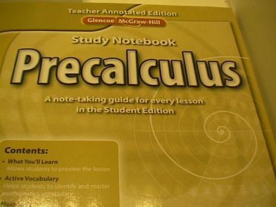 Ebluejay Glencoe Mcgraw Hill Precalculus Study Guide