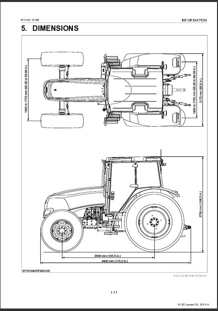 eBlueJay: Kubota M130X Tractor WSM Service Repair Workshop
