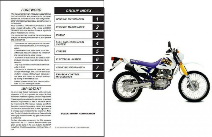 Bestseller: Service Manual 86 Suzuki Dr200