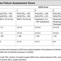 Modified Sofa Score Calculator 2 Seater Power Recliner Sepsis Shock Qsofa Lactate Intravenous Fluids Sequential