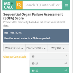 Modified Sofa Score Calculator Wicker Sofas Nz Sepsis Shock Qsofa Lactate Intravenous Sequential Organ Failure Assessment Updates And Controversies In The Early Management Access