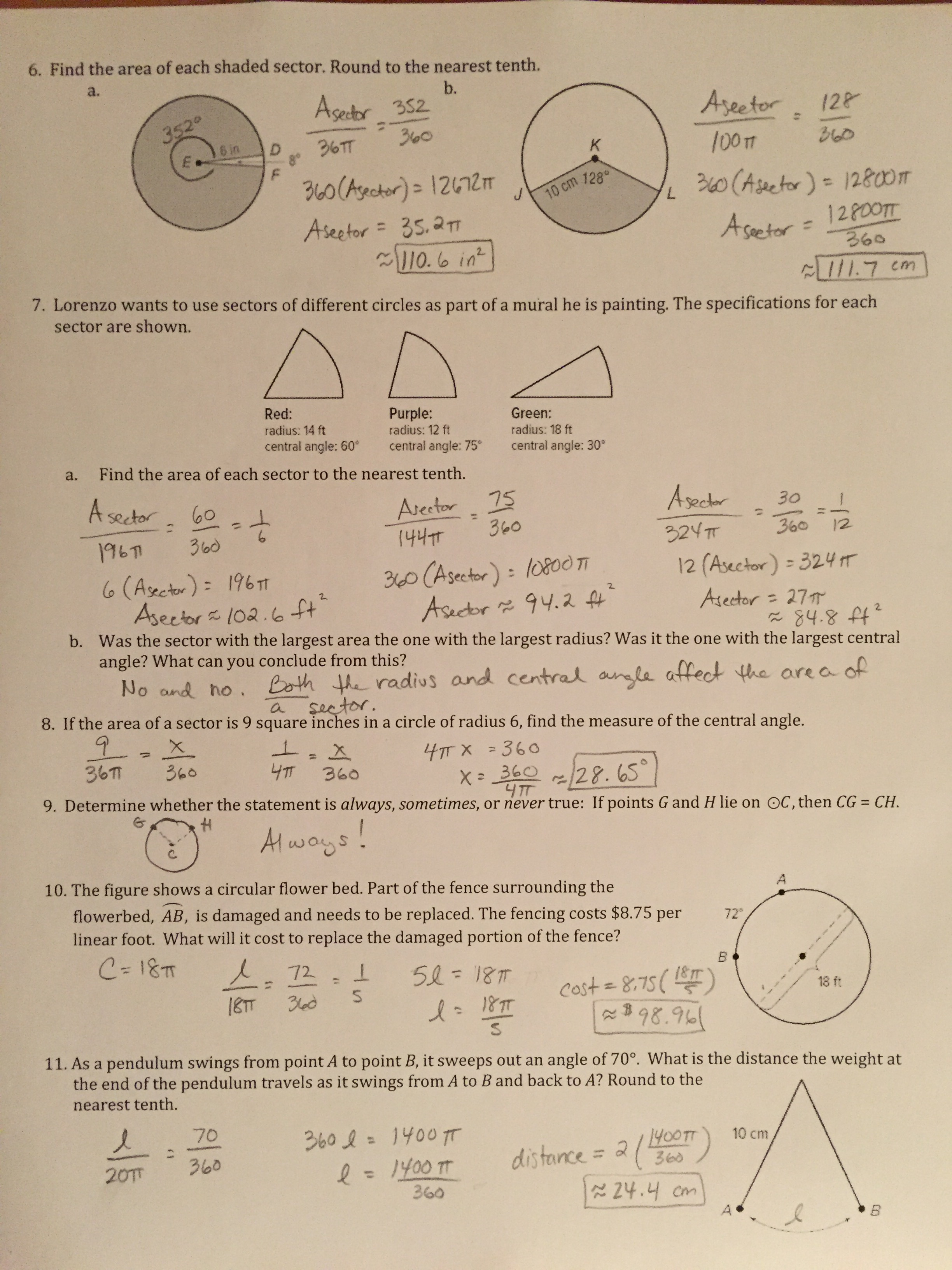 Bestseller Geometry Circles Test Review Answers