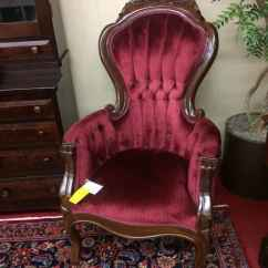White Tufted Chairs Rocket Gaming Chair Victorian Style Parlor