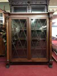 Antique Bookcase - Glass Door China Cabinet  Bohemian's