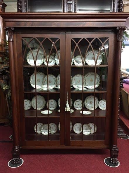 Antique Bookcase  China Cabinet  Bohemians