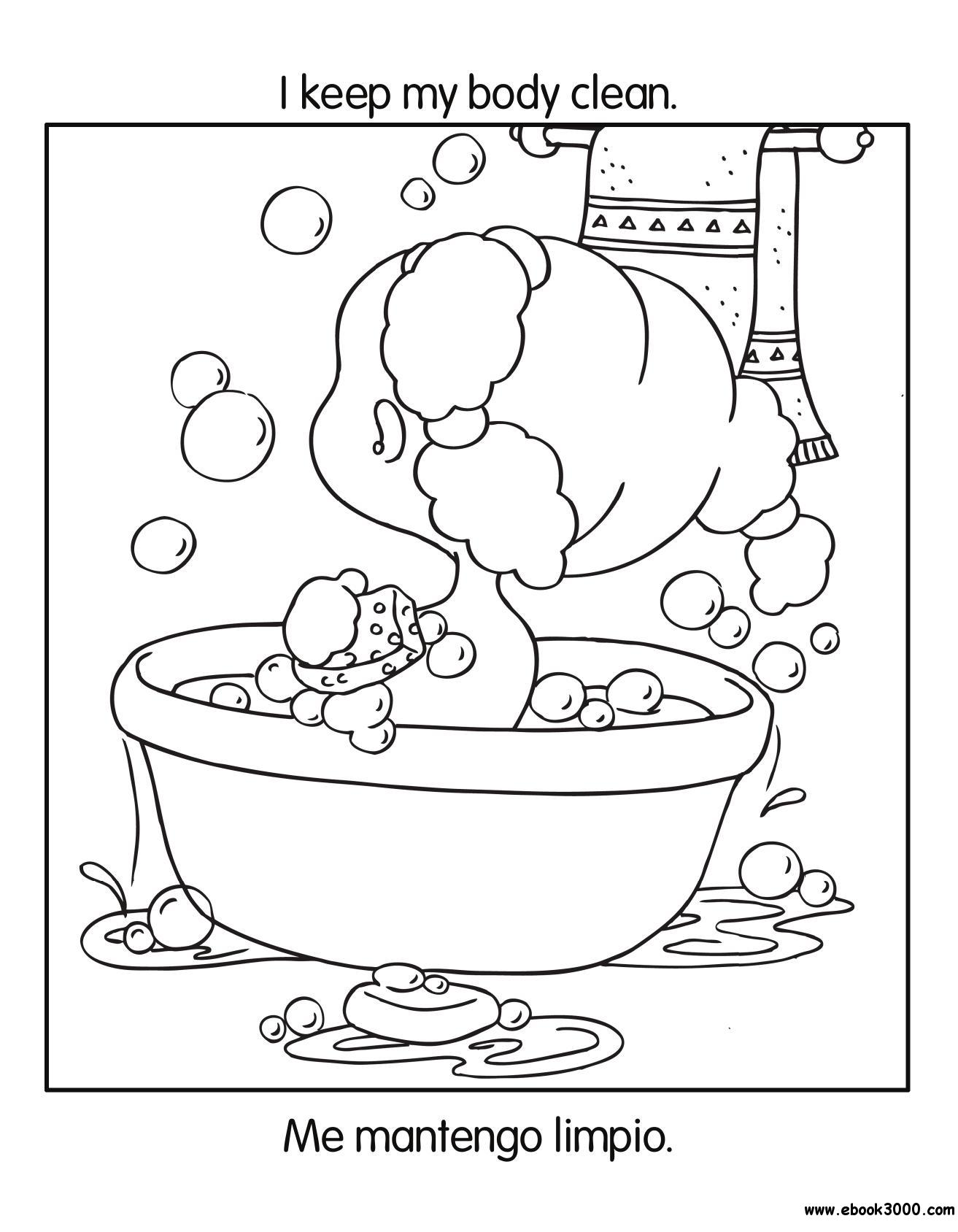 Good Habits Coloring Book Health And Nutrition