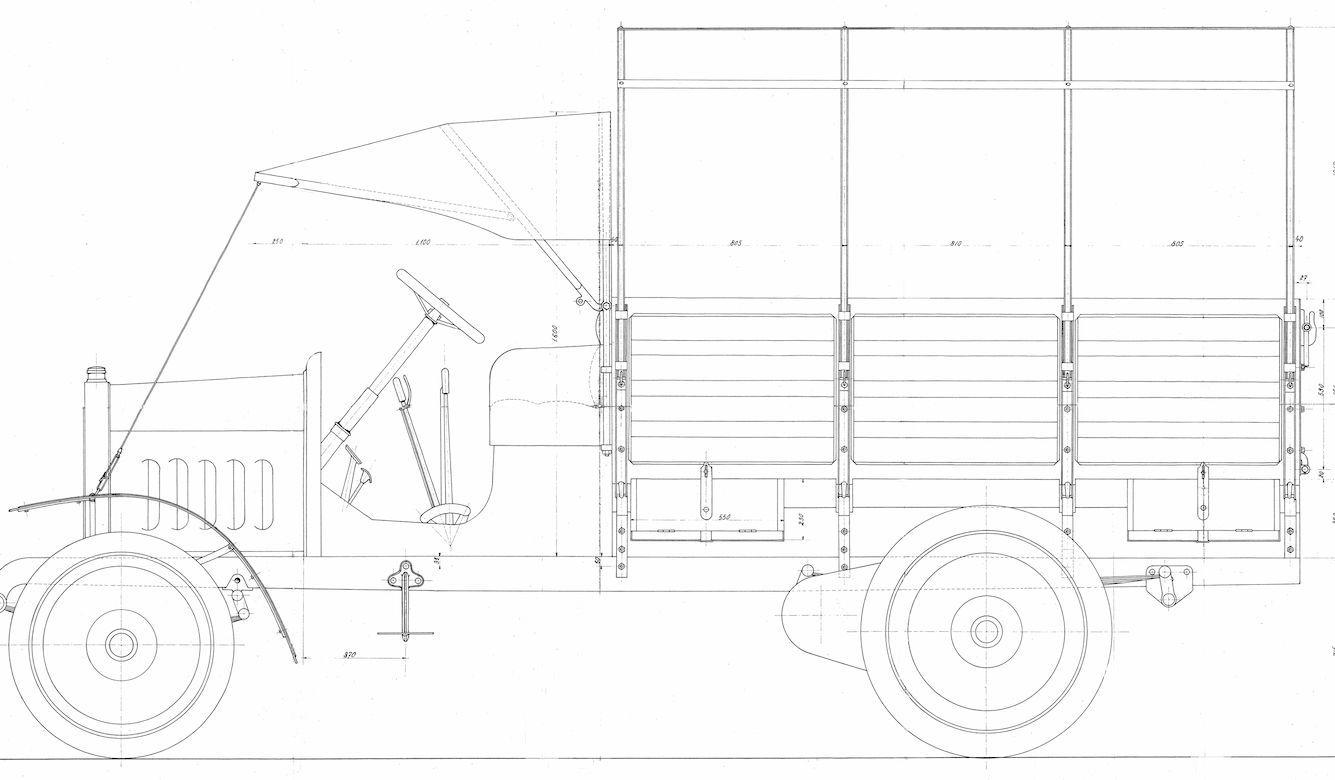 DISEGNI DRAWINGS: DISEGNO DWG ESERCITO Autocarro Fiat 18P