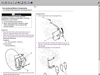 Honda Civic Service Repair Manual 2001 2002 CD