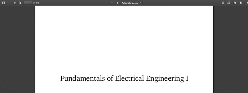 Fundamentals of Electrical Engineering I  by Don H. Johnson