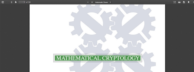 Mathematical Cryptology by Keijo Ruohonen