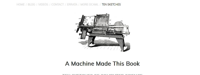 A Machine Made This Book: Ten Sketches Of Computer Science by John Whitington