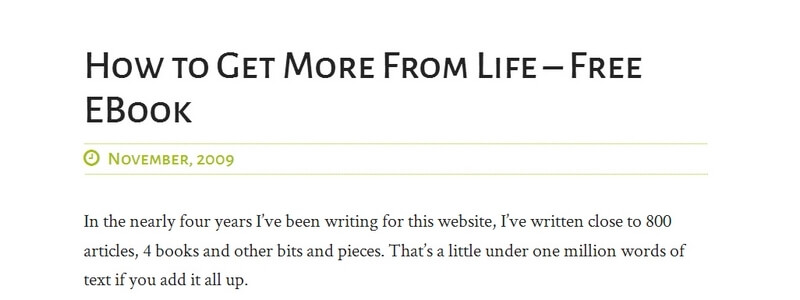 How to Get More From Life by Scott H. Young