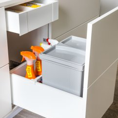 Blum Kitchen Bins Apron Servo Drive Uno For Bin Solutions By Eboss Nz Bottom Mount 17l Legrabox Silkwhite Bathroom