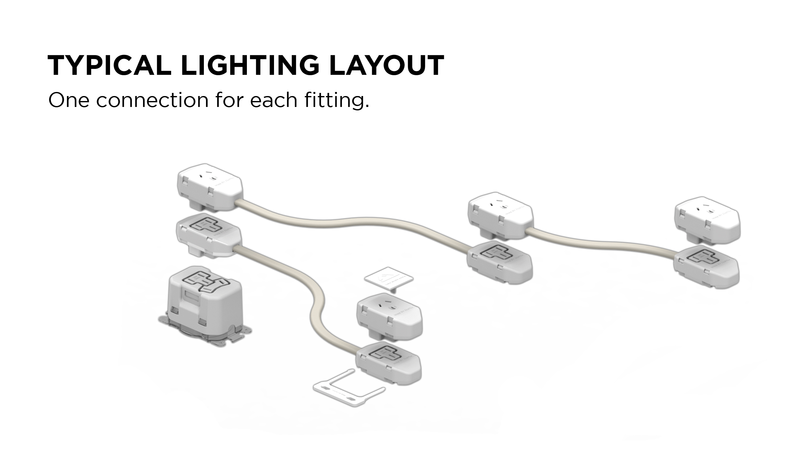 Wirebyclick Modular Building Wiring System For Lighting By