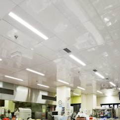 Commercial Kitchen Ceiling Tiles Cabinet Painting Replaced With Low Maintenance