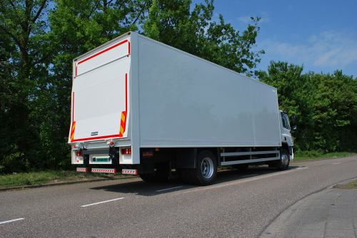 small resolution of  closed box body truck with a dhollandia tail lift cantilever dry
