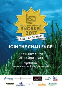 L'Ametlla Guinness world record snorkel attempt poster