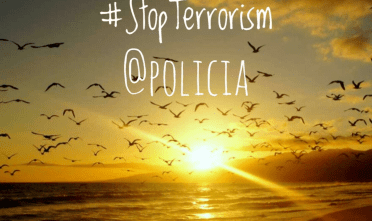 stop terrorism poster policia
