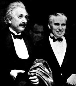 Charlie Chaplin and Albert Einstein at the premier of City Lights, 1931
