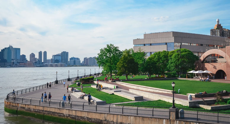 Wagner Park in Battery Park City