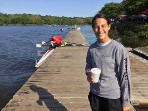 Jennifer Santos, a coach at the Bergen County Rowing Academy, died in a fatal fall at the Oculus over the weekend.