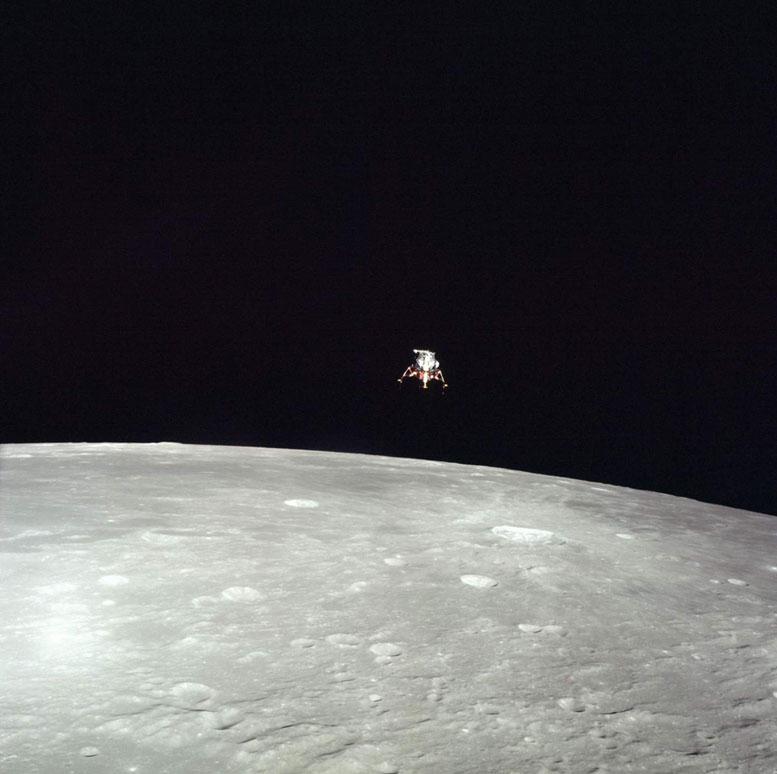Apollo 12 Lunar Module Descends