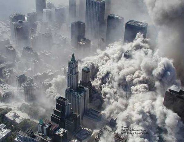 The woolworth Building on September 11, 2001