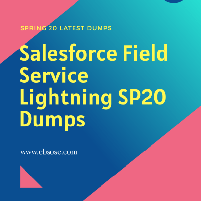 Salesforce Field Service Lightning Spring 20 Dumps