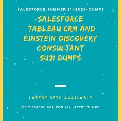 Tableau CRM and Einstein Discovery Consultant (SU21)