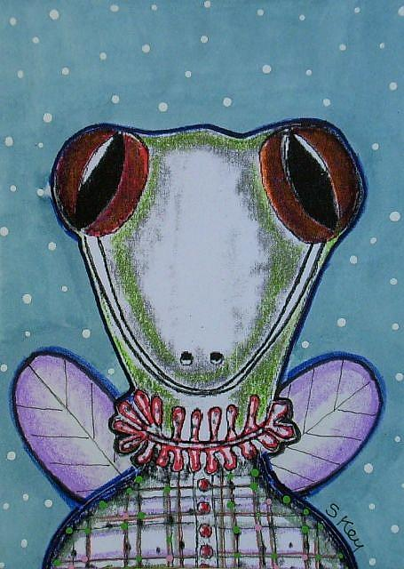 "ACEO ""Lizard Interrupted"" on ETSY"