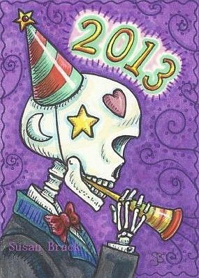 Day of the Dead New Year by EBSQ Artist Susan Brack