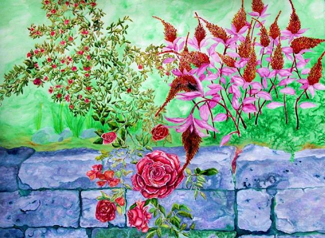 Art: The Rose and the Amaranth by Artist Lisa Morgan