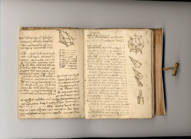 page from da Vinci journal